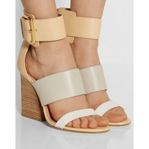 Sigerson Morrison Sand Pocker Color-Block Sandal